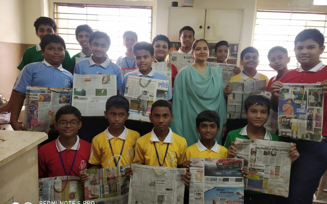 Eco-Club Workshop on making paper bags and envelopes